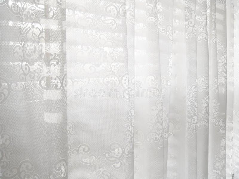 Reticolo astratto bianco dei ciechi di finestra del merletto immagine stock