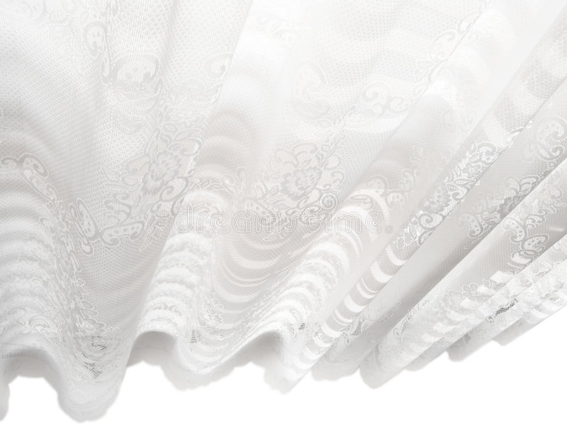 Reticolo astratto bianco dei ciechi di finestra del merletto fotografia stock