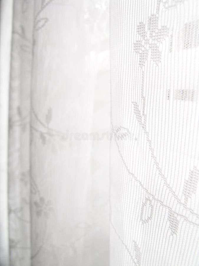 Reticolo astratto bianco dei ciechi di finestra del merletto fotografie stock libere da diritti