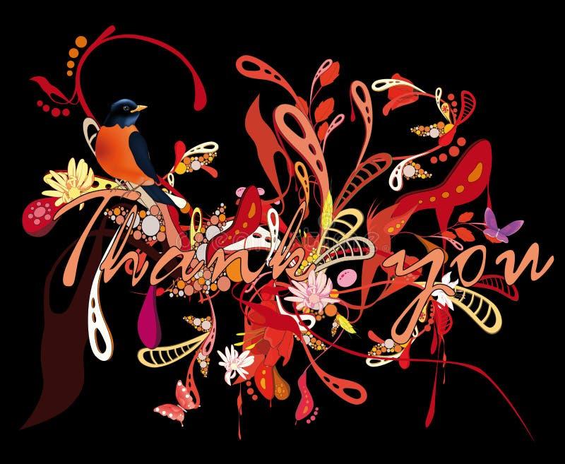 Reticolo astratto con i fiori illustrazione vettoriale