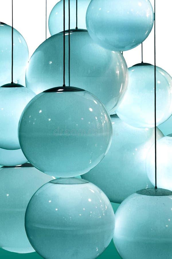 Reticolo astratto dei cerchi blu illustrazione di stock