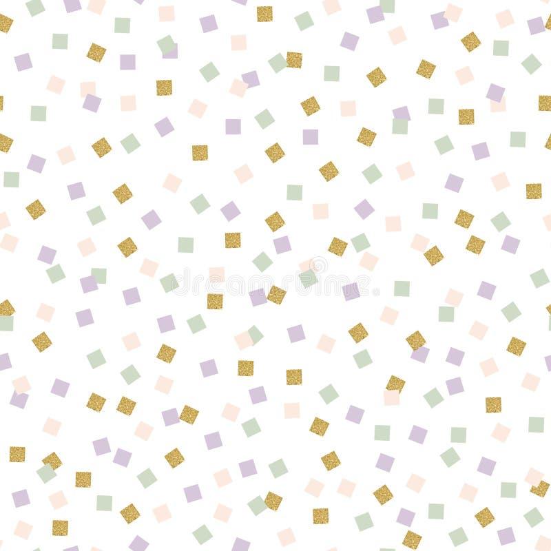 Reticolo astratto dei quadrati Ornamento fine con gli elementi quadrati variopinti illustrazione di stock