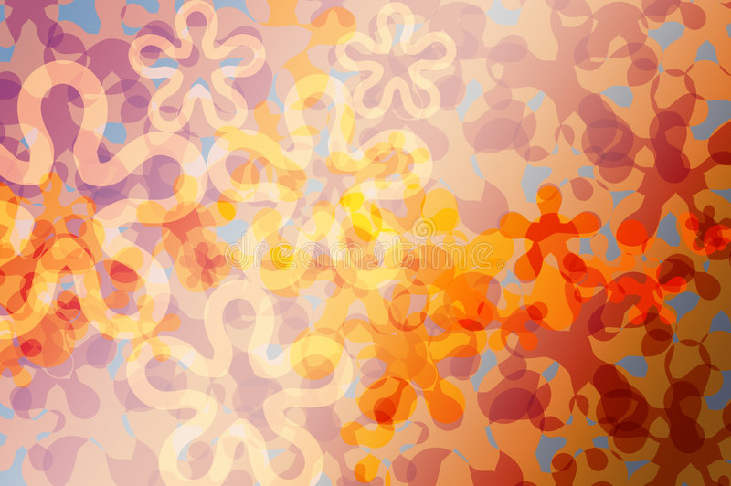 Reticolo astratto della flora illustrazione vettoriale