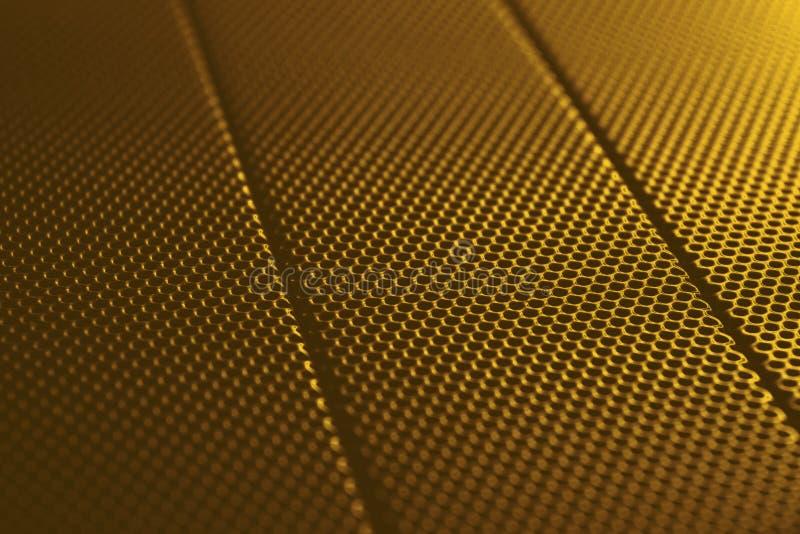 Reticolo astratto di struttura della priorità bassa del metallo dell'oro immagini stock libere da diritti
