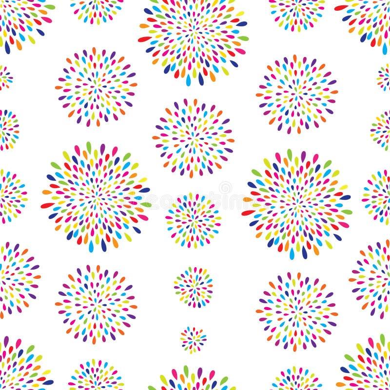 Reticolo astratto Ornamento del cerchio del punto del fuoco d'artificio royalty illustrazione gratis