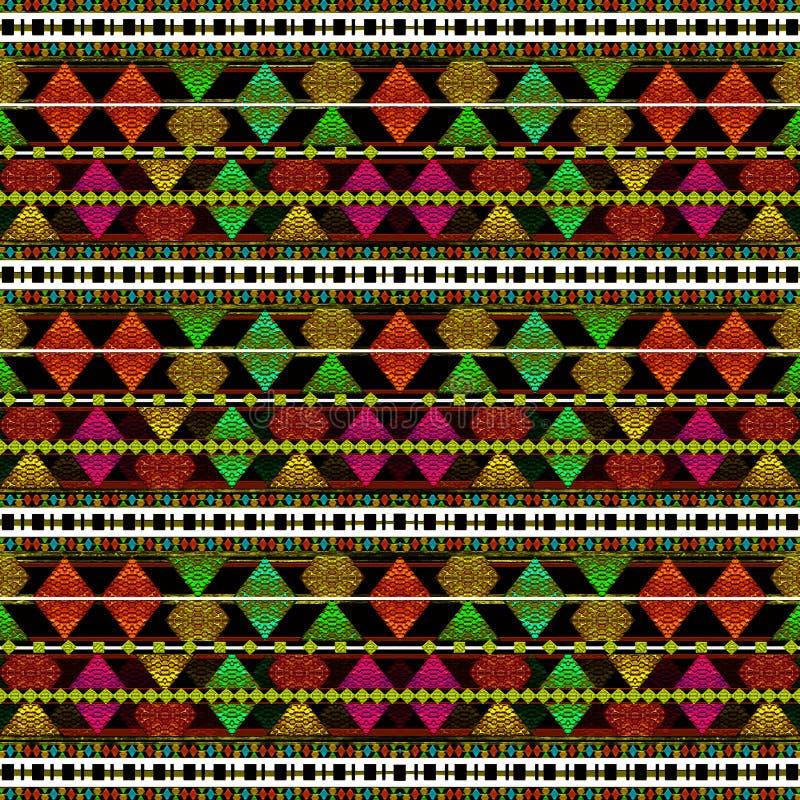 Reticolo azteco di stile immagine stock