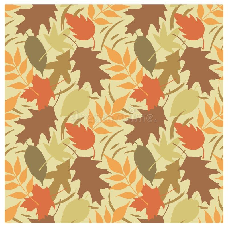 Reticolo B dei fogli di autunno illustrazione vettoriale