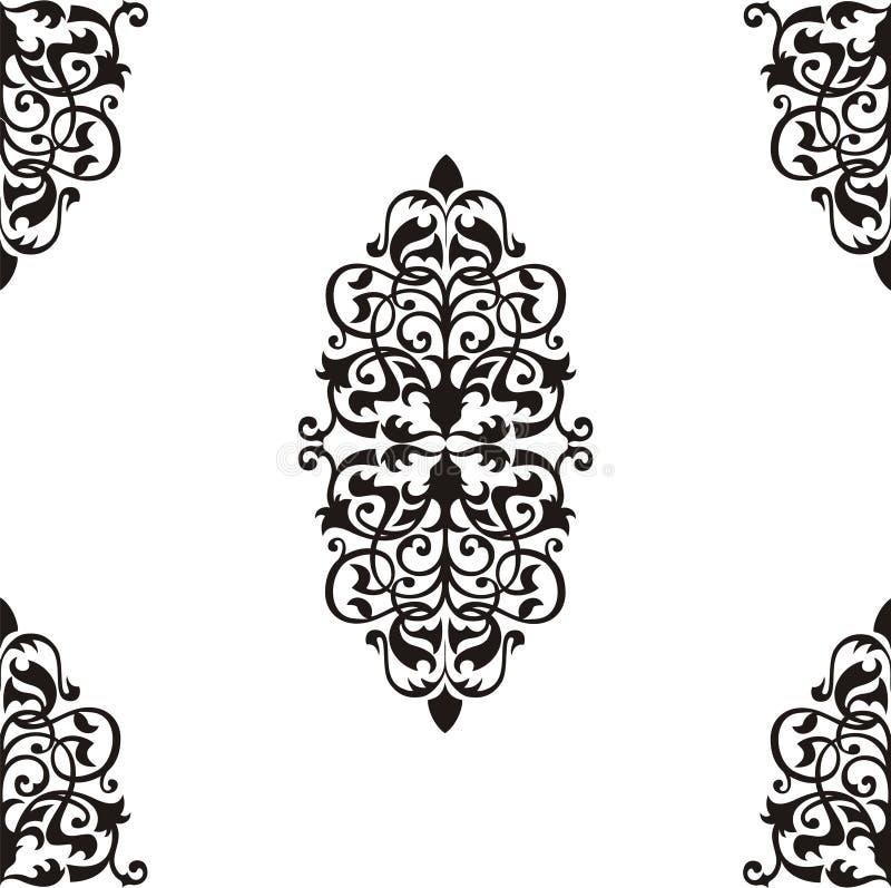 Reticolo barrocco senza giunte illustrazione vettoriale