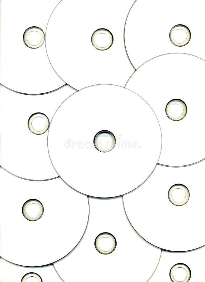 Reticolo bianco dei dischi di dati del calcolatore di DVD. fotografie stock