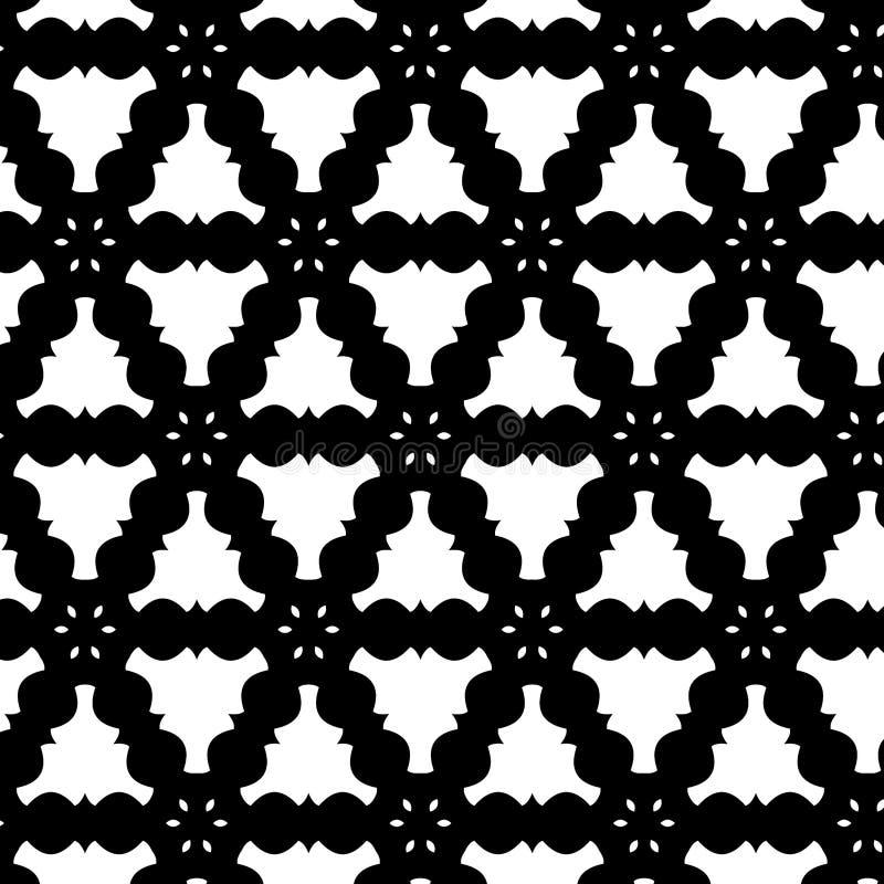 Reticolo in bianco e nero di Asbtract illustrazione vettoriale