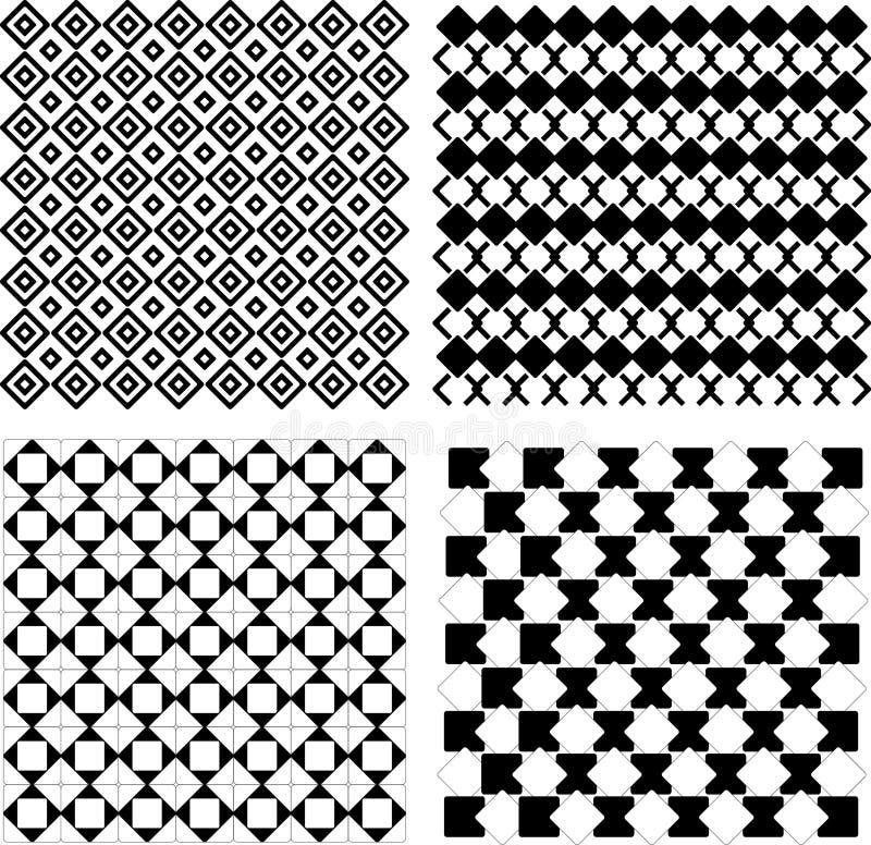 Reticolo in bianco e nero senza giunte illustrazione di stock