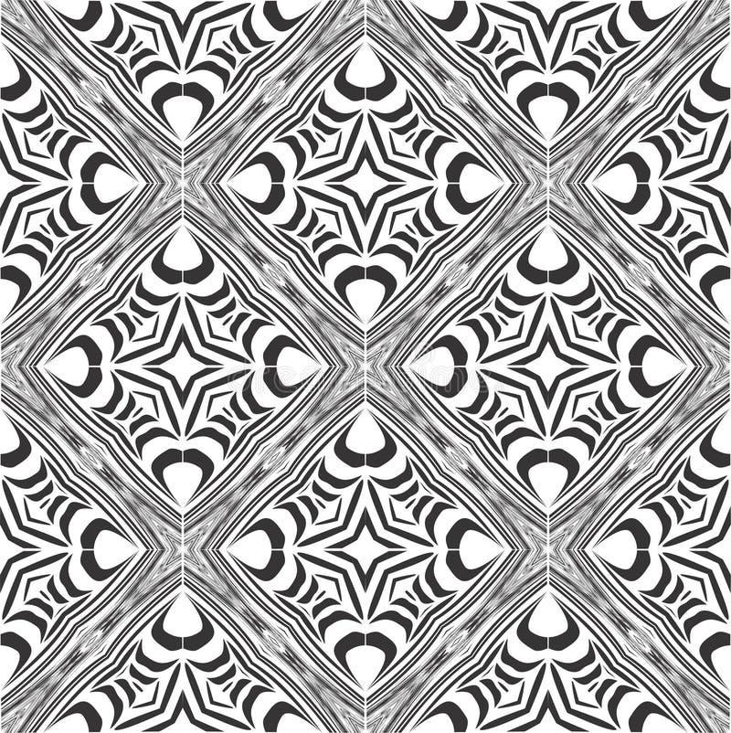 Reticolo in bianco e nero senza giunte fotografia stock libera da diritti