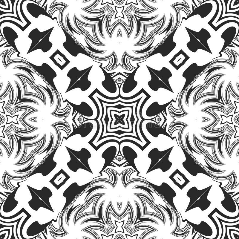 Reticolo in bianco e nero senza giunte fotografia stock