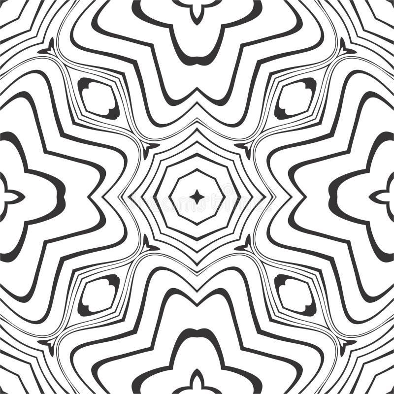 Reticolo in bianco e nero senza giunte immagini stock
