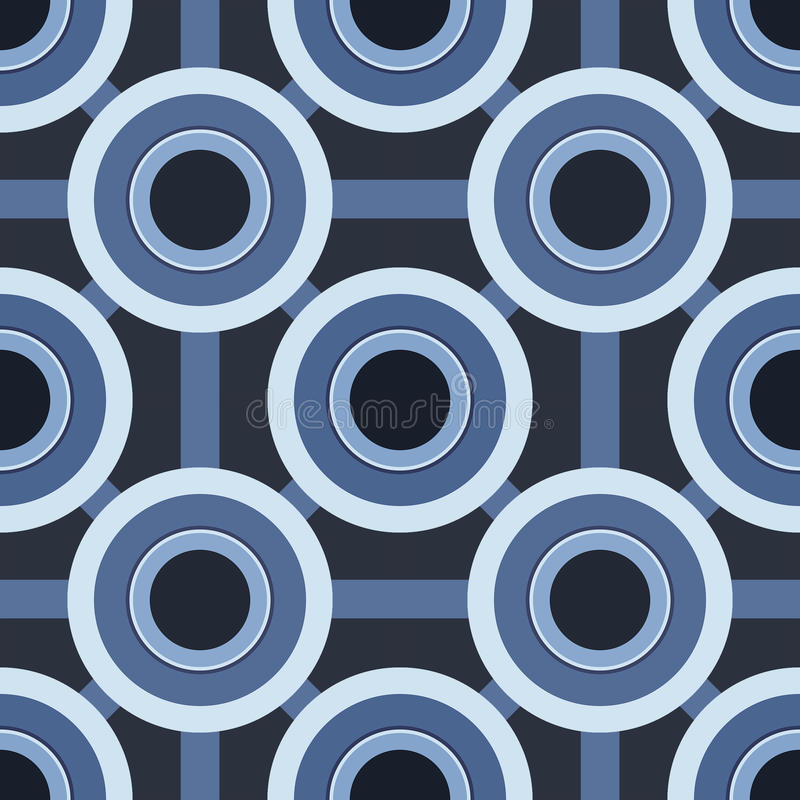 Reticolo blu dei cerchi fotografia stock