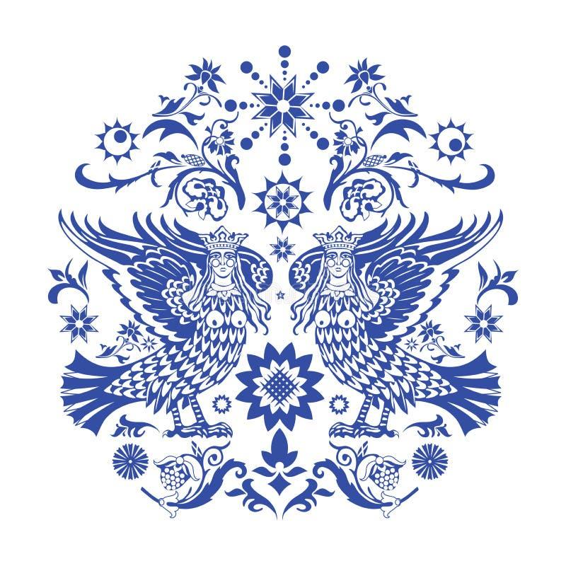 Reticolo blu dello slavic illustrazione vettoriale