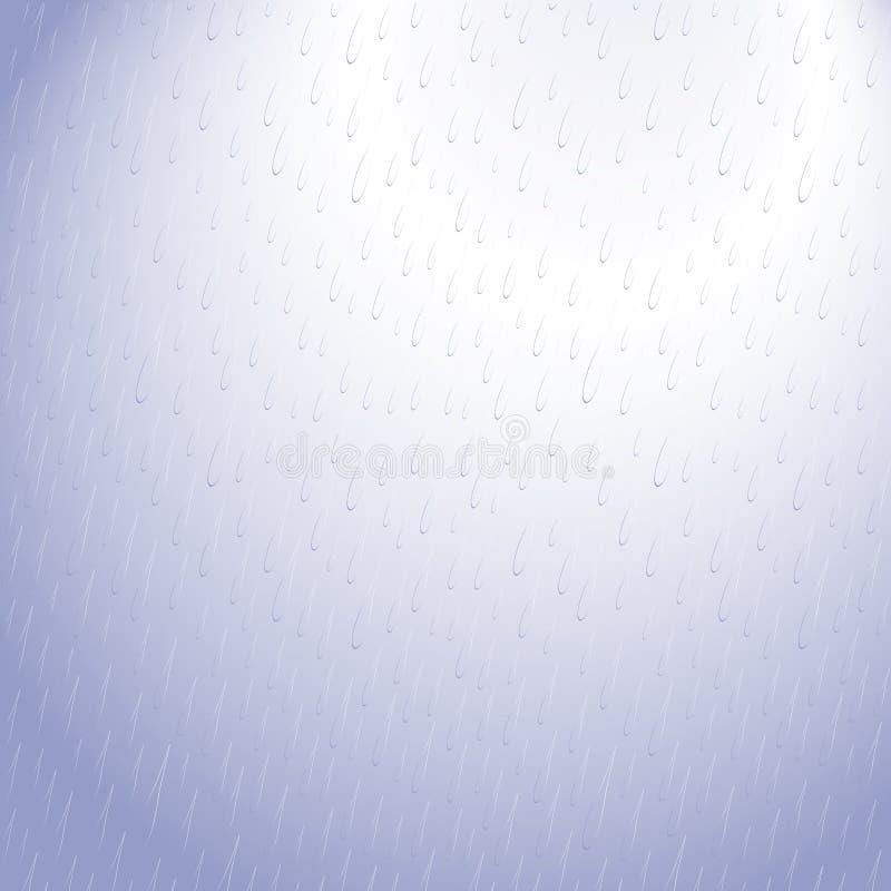 Reticolo blu di goccia della pioggia fotografia stock