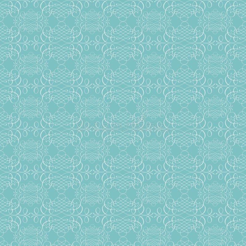 Reticolo blu di struttura di flourish di calligrafia del Aqua royalty illustrazione gratis