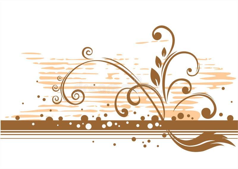 Reticolo bronze floreale illustrazione vettoriale
