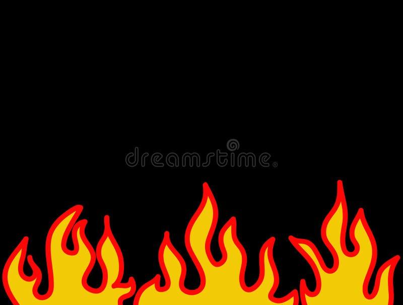 Reticolo burning rosso della fiamma illustrazione di stock