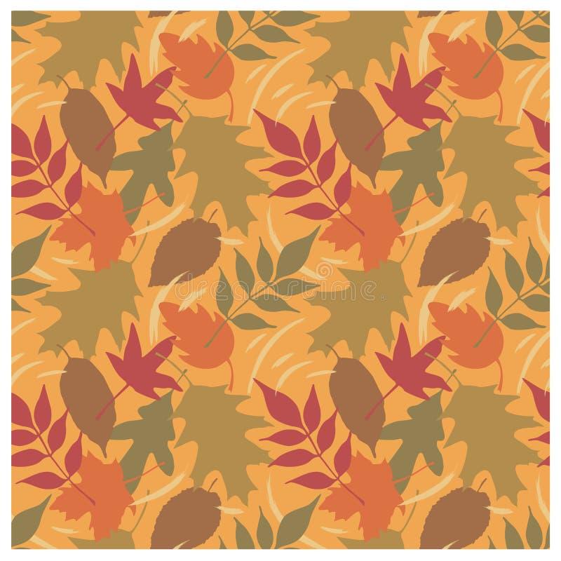 Reticolo C dei fogli di autunno illustrazione di stock