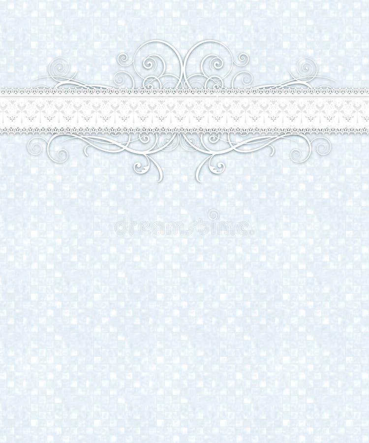 Reticolo Checkered bianco blu, merletto, Flourish royalty illustrazione gratis