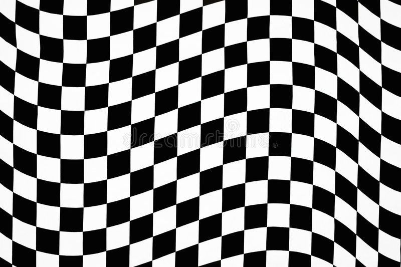 Reticolo checkered ondulato fotografie stock