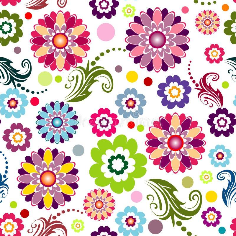 Reticolo chiaro floreale senza giunte illustrazione di stock
