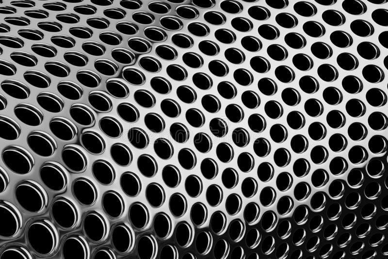 Reticolo cilindrico perforato illustrazione vettoriale