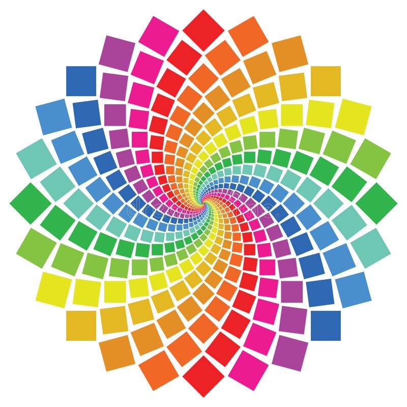 Download Reticolo circolare illustrazione vettoriale. Illustrazione di fiore - 7324838