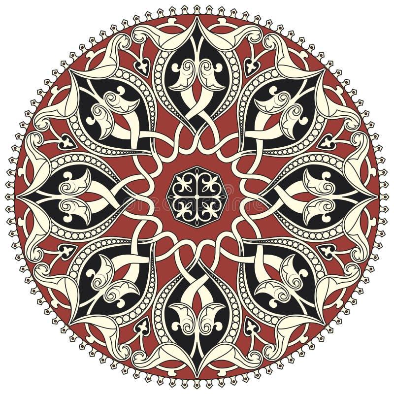 Reticolo circolare arabo illustrazione vettoriale