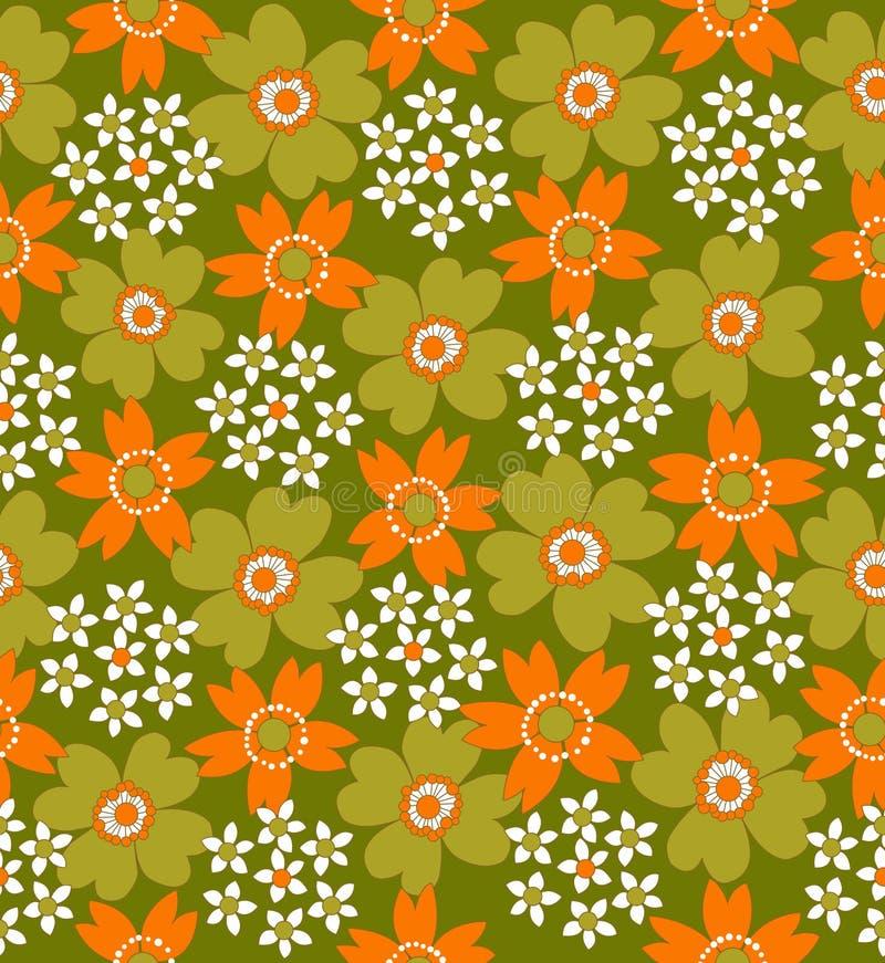 Reticolo coperto di tegoli senza giunte floreale illustrazione di stock