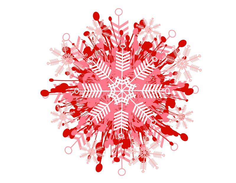 Reticolo decorativo 2 del fiocco di neve royalty illustrazione gratis