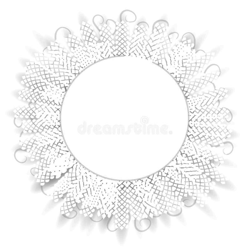 Reticolo decorativo del cerchio del merletto illustrazione di stock