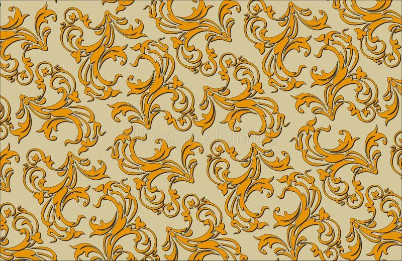 Reticolo decorato floreale medioevale di vettore di vecchio stile illustrazione vettoriale