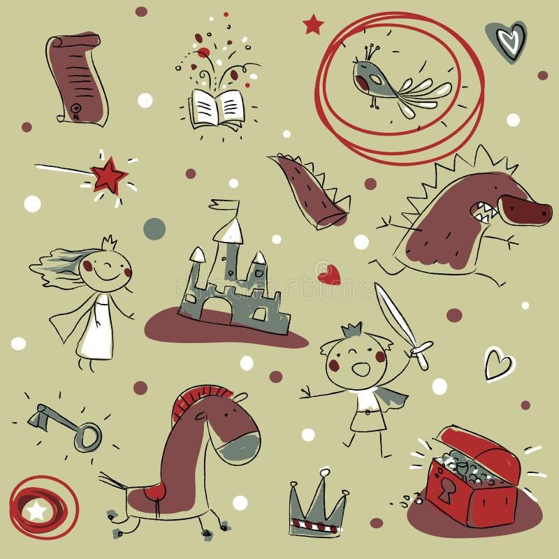 Reticolo dei bambini royalty illustrazione gratis