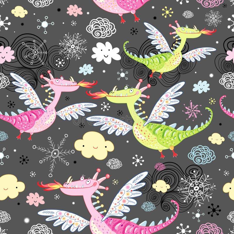 Reticolo dei draghi royalty illustrazione gratis