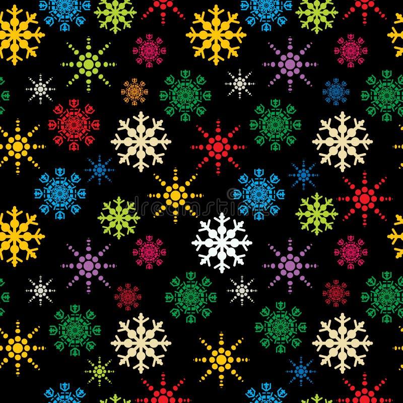 Reticolo dei fiocchi di neve illustrazione di stock