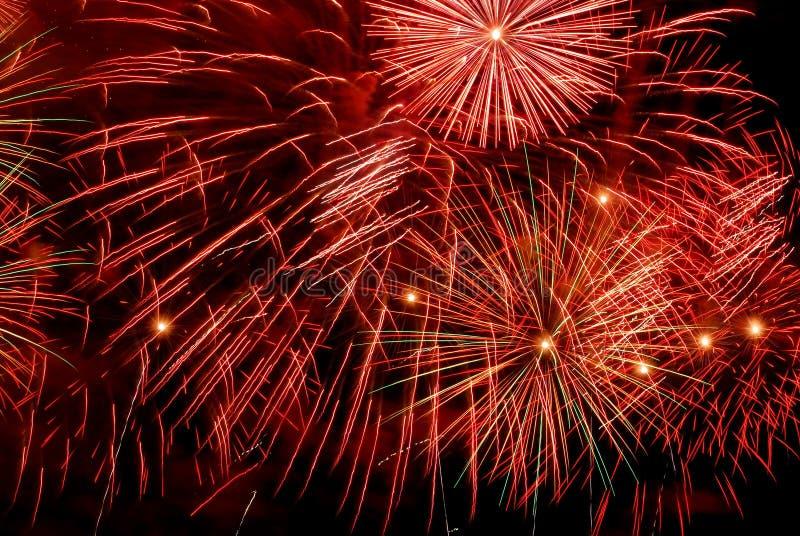 Reticolo dei fuochi d'artificio immagine stock libera da diritti