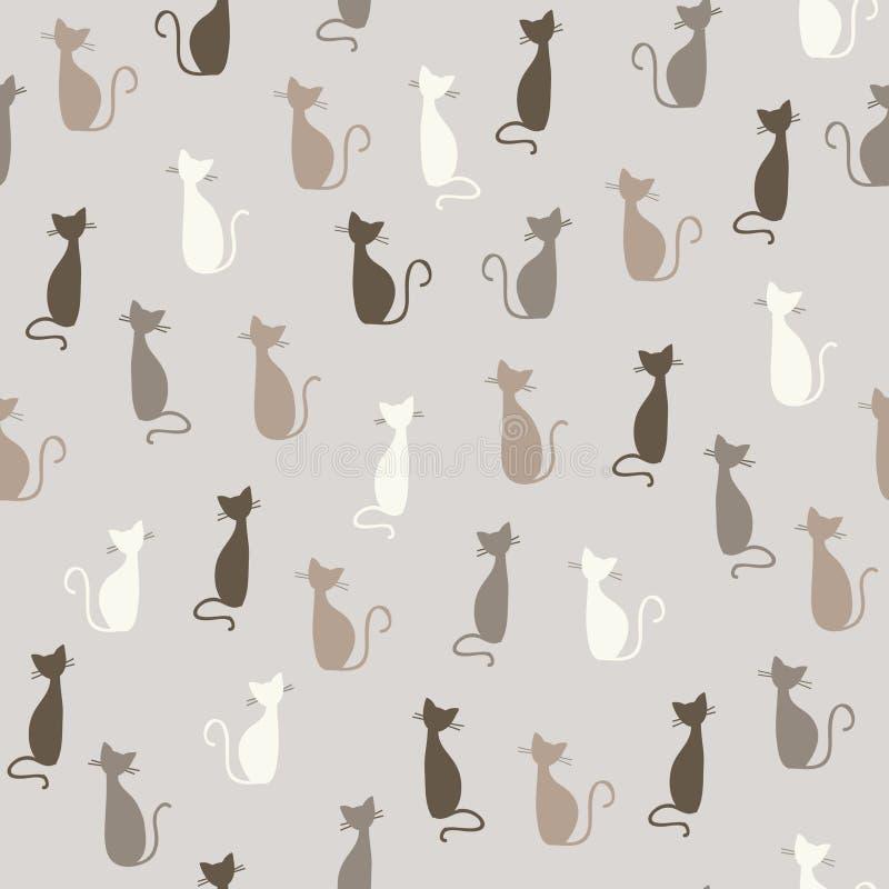 Reticolo dei gatti illustrazione di stock