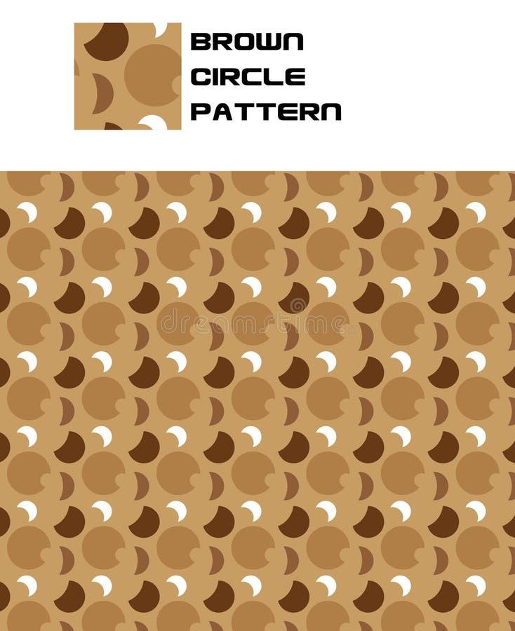 Reticolo del cerchio del Brown illustrazione vettoriale