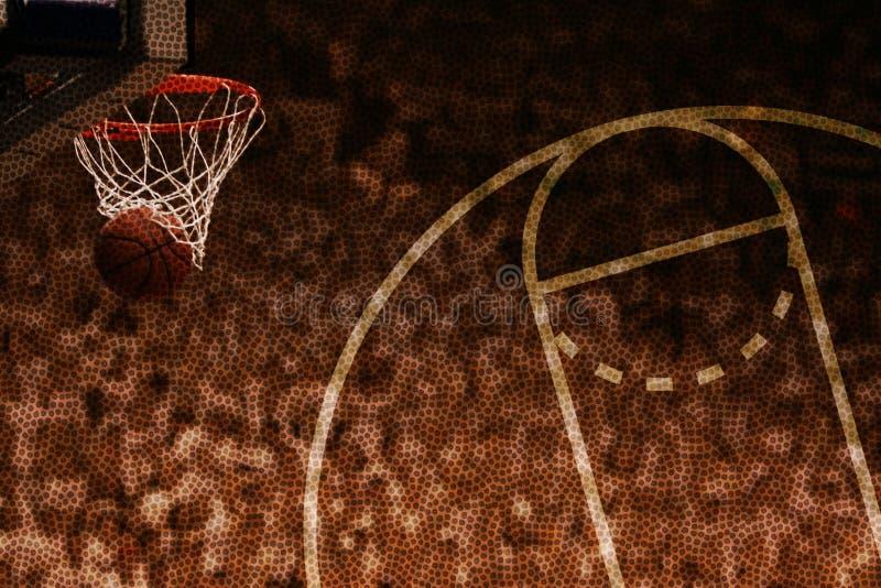 Reticolo del cerchio di pallacanestro fotografia stock