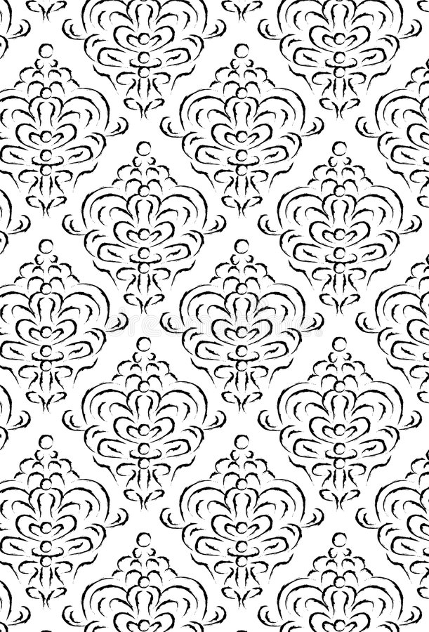 Download Reticolo del damasco illustrazione vettoriale. Illustrazione di ripetizione - 7311149