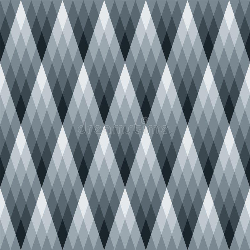 Reticolo del diamante di gradiente illustrazione di stock
