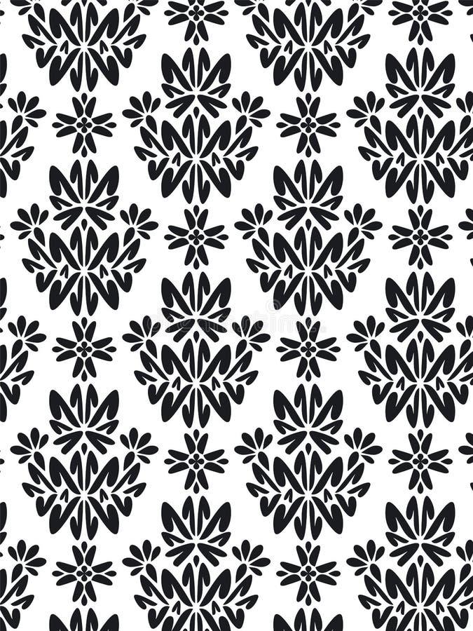 Reticolo del fogliame del damasco   royalty illustrazione gratis