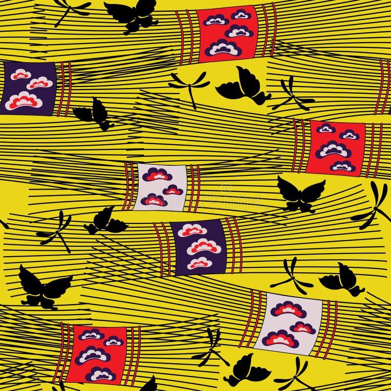 Reticolo del Giappone con fieno royalty illustrazione gratis