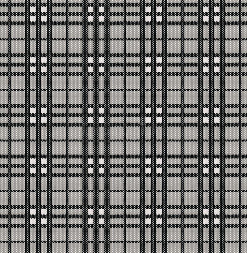 Reticolo del plaid da struttura lavorata a maglia illustrazione vettoriale