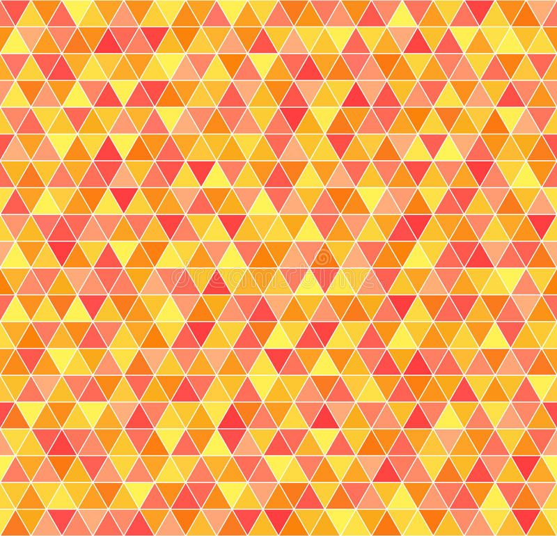 Reticolo del triangolo Fondo geometrico di vettore senza cuciture illustrazione vettoriale