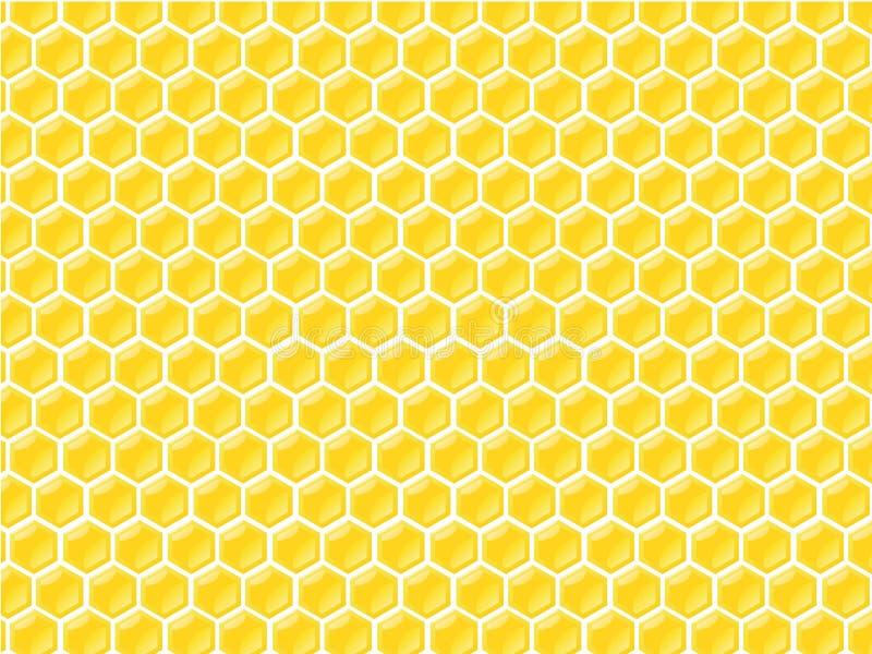 Reticolo dell'alloggiamento del miele illustrazione vettoriale