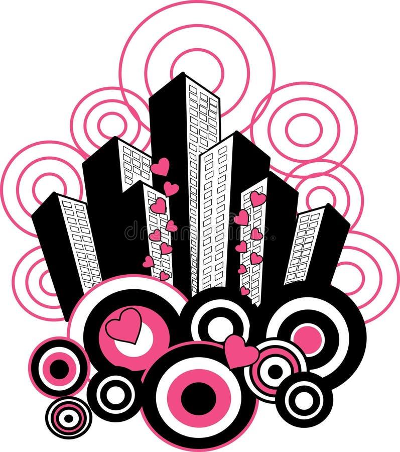 reticolo della città royalty illustrazione gratis